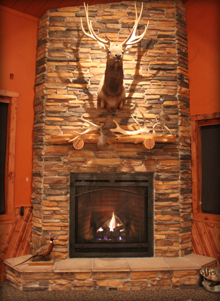 Fireplace At Timber Lake Elk Ranch