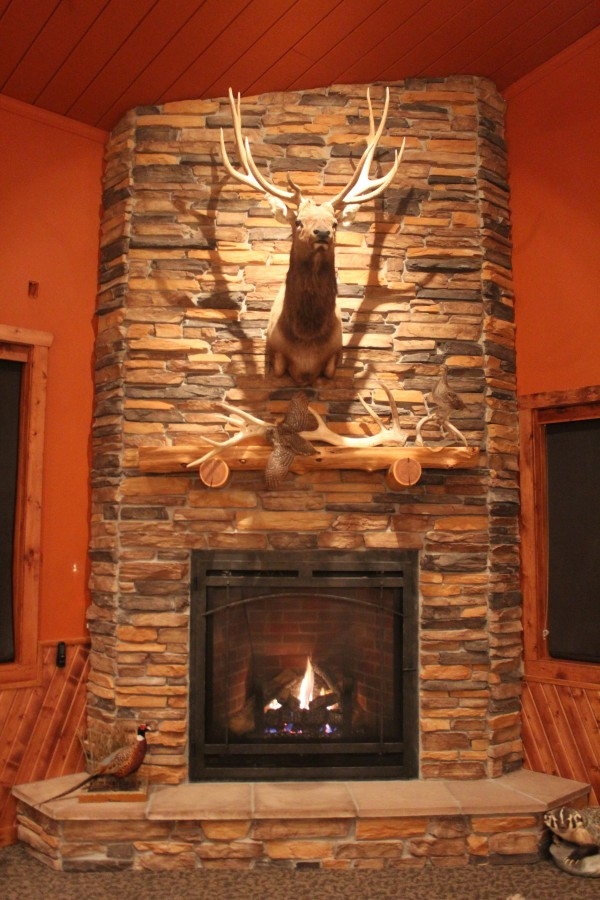 Fireplace at the Lodge